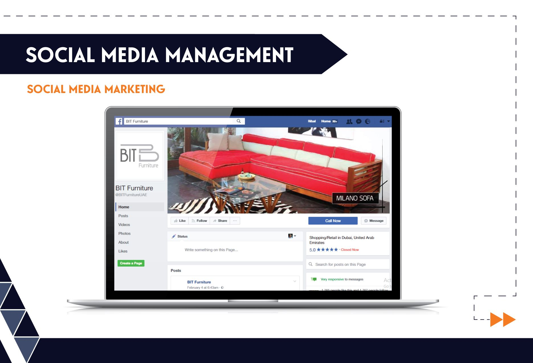 Social Media Management - BIT Furniture