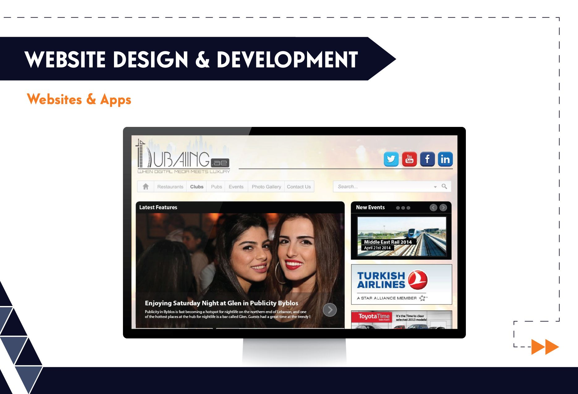 Website Design & Development - Dubaiing