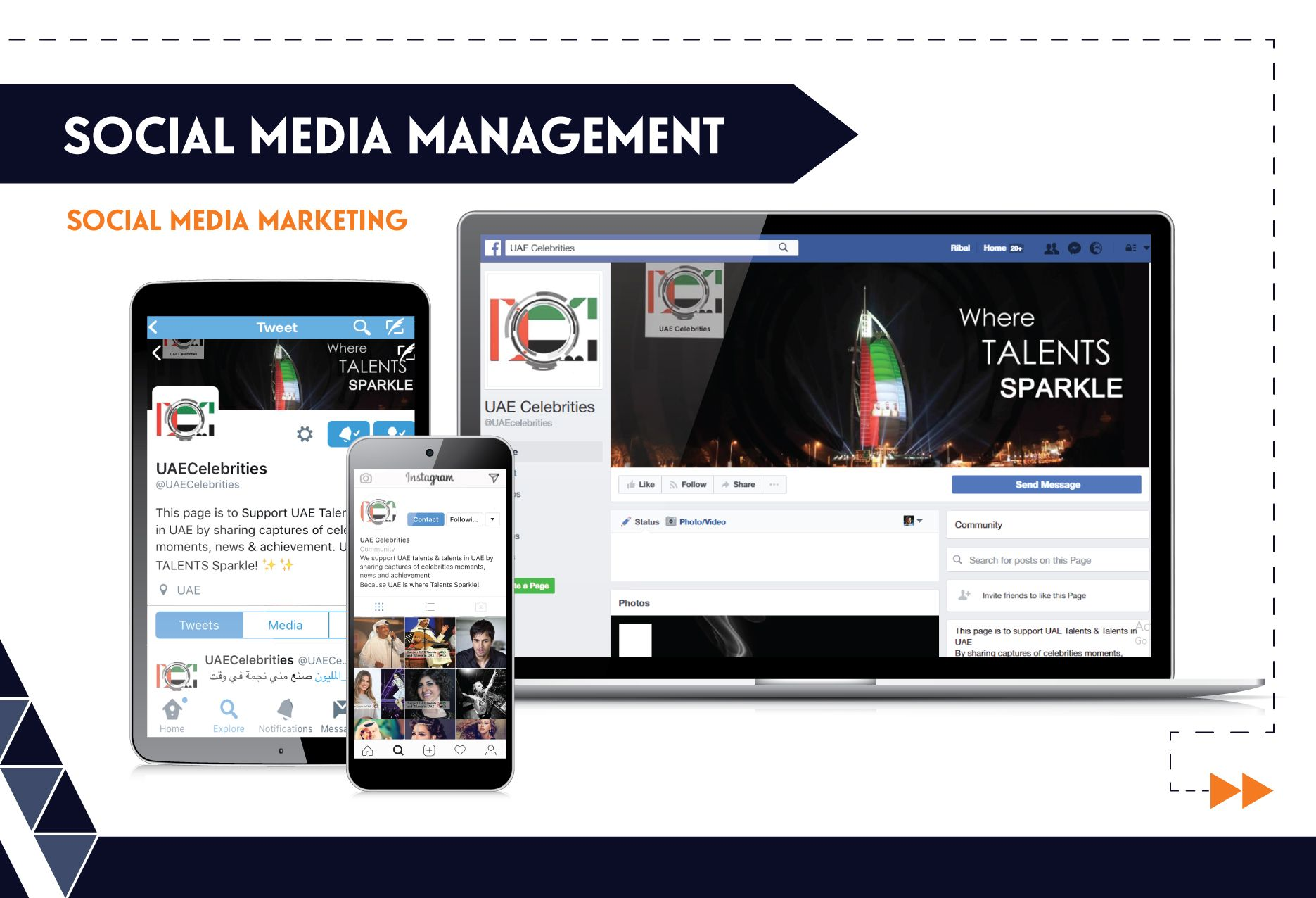 Social Media Management - UAE Celeb.